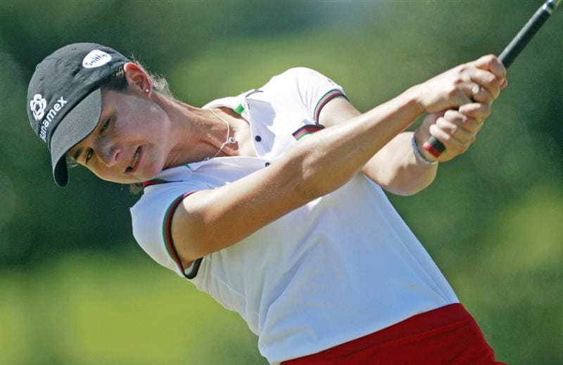 PRATTVILLE, AL - OCTOBER 3:  Lorena Ochoa of Mexico hits her drive from the third tee during third round play in the Navistar LPGA Classic at the Robert Trent Jones Golf Trail at Capitol Hill on October 3, 2009 in  Prattville, Alabama.  (Photo by Dave Martin/Getty Images)