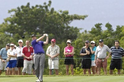 J.J. Henry tees off during the second round of the WGC-Barbados World Cup held on the Country Club Course at the Sandy Lane Resort in St. James, Barbados, on December 8, 2006. PGA TOUR - WGC - 2006 Barbados World Cup - Second RoundPhoto by Steve Levin/WireImage.com