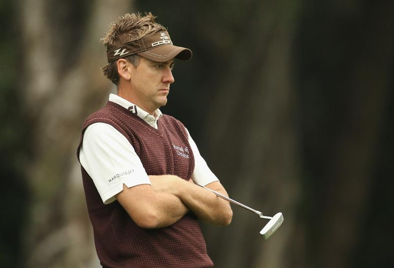 HONG KONG - NOVEMBER 18:  Ian Poulter of England looks on during day one of the UBS Hong Kong Open at The Hong Kong Golf Club on November 18, 2010 in Hong Kong, Hong Kong.  (Photo by Ian Walton/Getty Images)