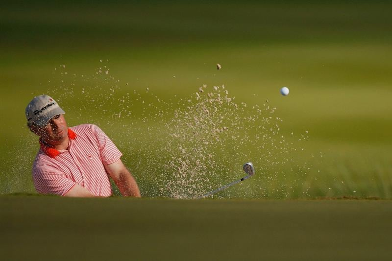 RIVIERA MAYA, MEXICO - FEBRUARY 27:  Mathias Gronberg of Sweden chips out of a bunker on the sixth hole during the second round of the Mayakoba Golf Classic on February 27, 2009 at El Camaleon Golf Club in Riviera Maya, Mexico.  (Photo by Chris Graythen/Getty Images)