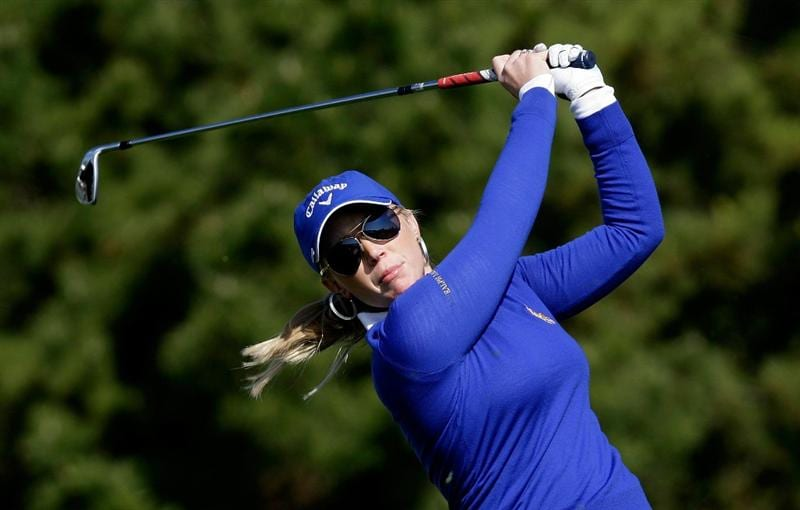 INCHEON, SOUTH KOREA - OCTOBER 29:  Morgan Pressel of the United States hits a tee shot on the 3rd hole  during the 2010 LPGA Hana Bank Championship at Sky 72 Golf Club on October 29, 2010 in Incheon, South Korea.  (Photo by Chung Sung-Jun/Getty Images)