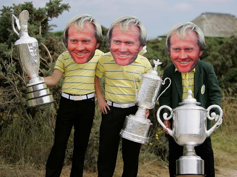 Fans dressed as Jack Nicklaus