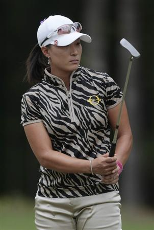MOBILE, AL - MAY 15:  Se Ri Pak of South Korea watches her putt on the third hole during third round play in the Bell Micro LPGA Classic at the Magnolia Grove Golf Course on May 15, 2010 in Mobile, Alabama.  (Photo by Dave Martin/Getty Images)