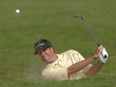 Brent Geiberger in action during the second round of the 2006 Nissan Open, Presented by Countrywide at Riviera Country Club in Pacific Palisades, California February 17, 2006.Photo by Steve Grayson/WireImage.com