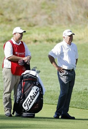 POTOMAC, MD - OCTOBER 10:  Mark O'Meara stands near his bag on the second hole during the final round of the Constellation Energy Senior Players Championship held at TPC Potomac at Avenel Farm on October 10, 2010 in Potomac, Maryland.  (Photo by Michael Cohen/Getty Images)