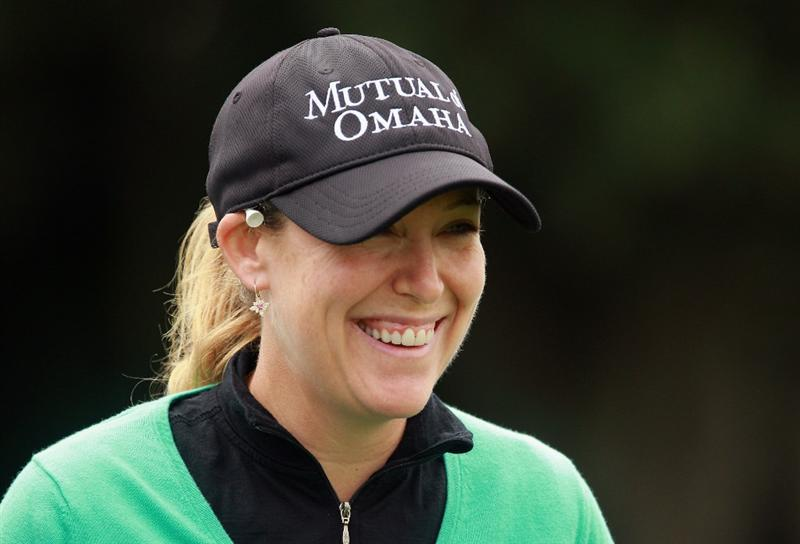 ORLANDO, FL - DECEMBER 01:  Cristie Kerr waits on a tee box during the pro-am prior to the start of the LPGA Tour Championship at the Grand Cypress Resort on December 1, 2010 in Orlando, Florida.  (Photo by Scott Halleran/Getty Images)