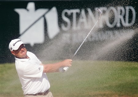 MEMPHIS, TN - JUNE 08:   Gavin Coles of Australia hits his third shot from a bunker on the 18th hole during the final round of the Stanford St. Jude Championship at TPC Southwind on June 8, 2008 in Memphis, Tennessee.  (Photo by Kyle Auclair/Getty Images)