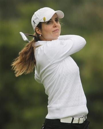 CITY OF INDUSTRY, CA - MARCH 26:  Beatriz Recari of Spain hits her tee shot on the eighth hole during the third round of the Kia Classic on March 26, 2011 at the Industry Hills Golf Club in the City of Industry, California.  (Photo by Scott Halleran/Getty Images)