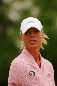 Michelle McGann competes  April 29 in  the rain-delayed second round of the 2005 Franklin American Mortgage Championship in Franklin, Tn.Photo by Al Messerschmidt/WireImage.com