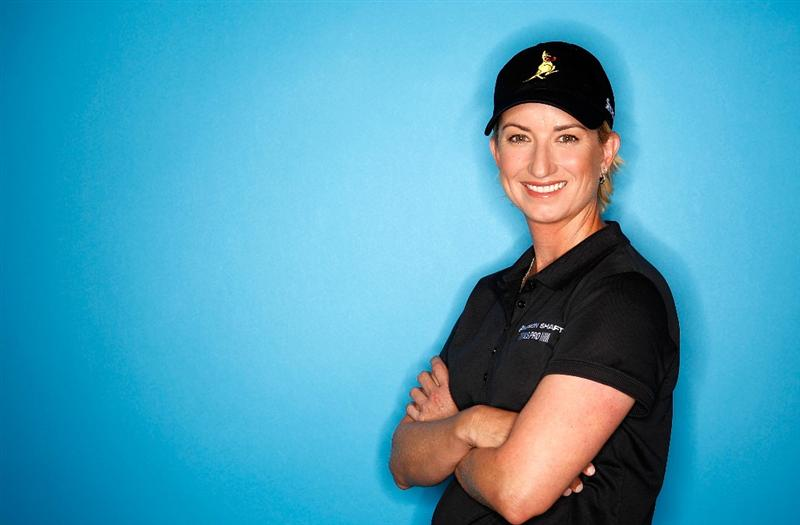 CITY OF INDUSTRY, CA - MARCH 22:  Karrie Webb of Australia poses for a portrait on March 22, 2011 at the Industry Hills Golf Club in the City of Industry, California.  (Photo by Jonathan Ferrey/Getty Images)