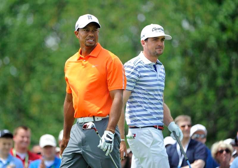 Tiger Woods and Keegan Bradley