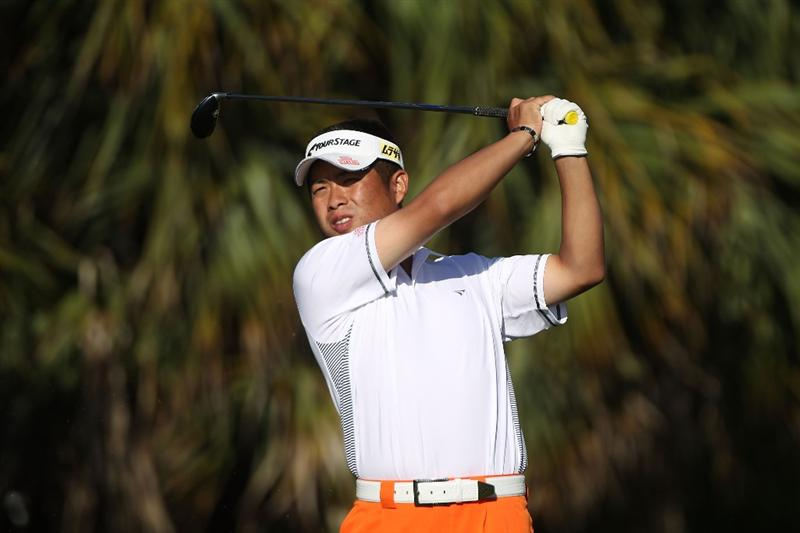 DORAL, FL - MARCH 13:  Yuta Ikeda of Japan  tees off on the 13th tee box during round three of the 2010 WGC-CA Championship at the TPC Blue Monster at Doral on March 13, 2010 in Doral, Florida.  (Photo by Scott Halleran/Getty Images)