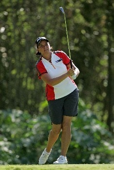 KAHUKU, HI - FEBRUARY 15:  Sherri Steinhauer hits her tee shot on the 15th hole during the second round of the SBS Open at the Turtle Bay Resort February 15, 2008 in Kahuku, Hawaii.  (Photo by Andy Lyons/Getty Images)