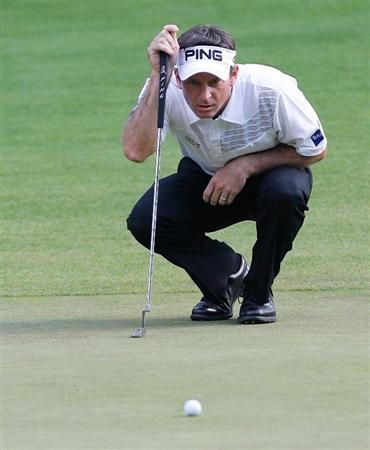 NORTON, MA - SEPTEMBER 5: Mark Wilson lines up a putt during the second round of the Deutsche Bank Championship held at TPC Boston on September 5, 2009 in Norton, Massachusetts. (Photo by Jim Rogash/Getty Images)
