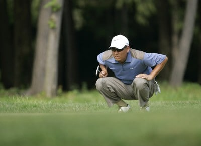 Notah Begay III competes in the first round of the B.C. Open held on the Atunyote course at Turning Stone Resort in Vernon, New York, on July 20, 2006.Photo by Chris Condon/PGA TOUR/WireImage.com