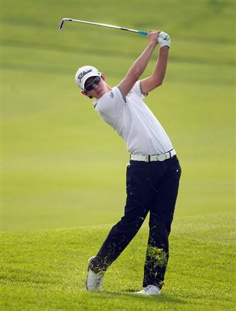 BAHRAIN, BAHRAIN - JANUARY 27:  Seung-yul Noh of Korea in action during the first round of the Volvo Golf Champions at The Royal Golf Club on January 27, 2011 in Bahrain, Bahrain.  (Photo by Andrew Redington/Getty Images)