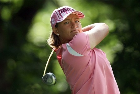 EDINA, MN - JUNE 25:  Katherine Hull of Australia tees off at the 15th hole during a practice round prior to the 2008 U.S. Women's Open at Interlachen Country Club on June 25, 2008 in Edina, Minnesota.  (Photo by David Cannon/Getty Images)