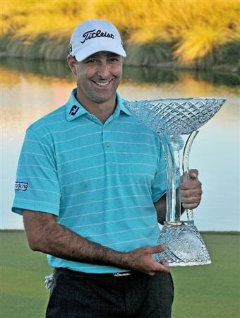 LAS VEGAS- OCTOBER 19:  Marc Turnesa wins the Justin Timberlake Shriners Hospitals for Children Open held at the TPC Summerlin on Sunday, October 19, 2008 in Las Vegas, Nevada.  (Photo by Marc Feldman/Getty Images)