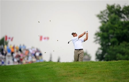 OAKVILLE, ON - JULY 26:  Tom Pernice Jr. makes an approach shot on the first hole during the third round of the RBC Canadian Open at the Glen Abbey Golf Club on July 26, 2008 in Oakville, Ontario, Canada.  (Photo by Robert Laberge/Getty Images)
