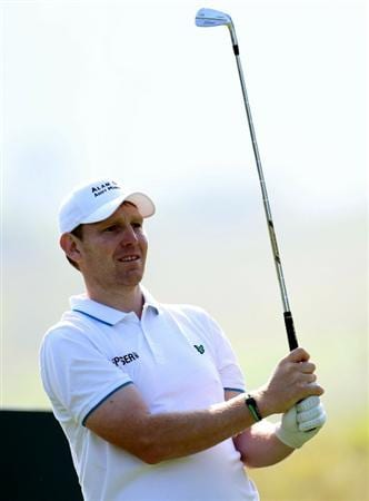 NEWPORT, WALES - JUNE 03:  Stephen Gallacher of Scotland during the first round of the Celtic Manor Wales Open on the 2010 Course at the Celtic Manor Resort on June 3, 2010 in Newport, Wales.  (Photo by Ross Kinnaird/Getty Images)