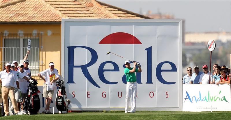 SEVILLE, SPAIN - APRIL 29:  Simon Dyson of England during the first round of the Open de Espana at the Real Club de Golf de Seville on April 29, 2010 in Seville, Spain.  (Photo by Ross Kinnaird/Getty Images)