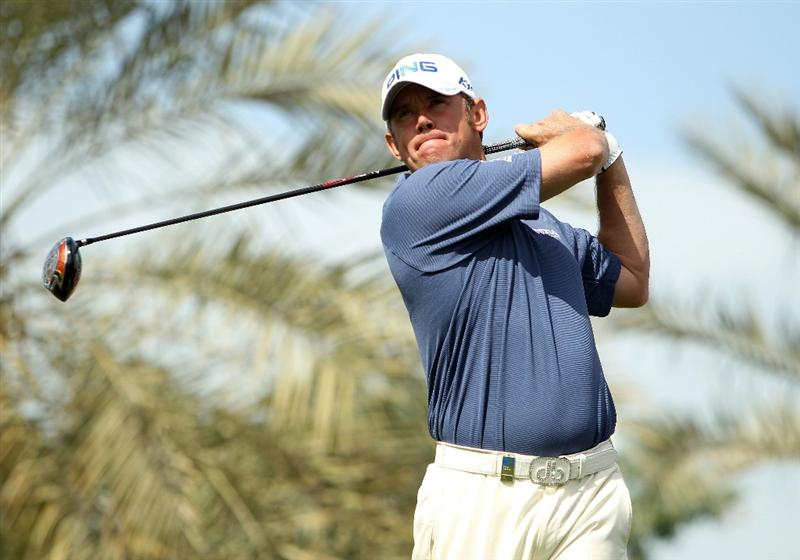 DUBAI, UNITED ARAB EMIRATES - FEBRUARY 13:  Lee Westwood of England in action during the final round for the 2011 Omega Dubai desert Classic held on the Majilis Course at the Emirates Golf Club on February 13, 2011 in Dubai, United Arab Emirates.  (Photo by Ian Walton/Getty Images)