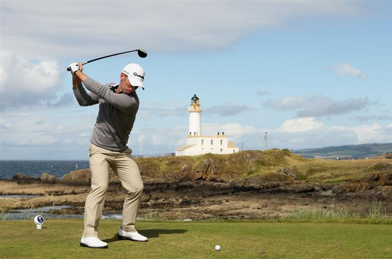 TURNBERRY, SCOTLAND - JULY 19:  Richard S Johnson of Sweden tees off on the 9th hole during the final round of the 138th Open Championship on the Ailsa Course, Turnberry Golf Club on July 19, 2009 in Turnberry, Scotland.  (Photo by Warren Little/Getty Images)