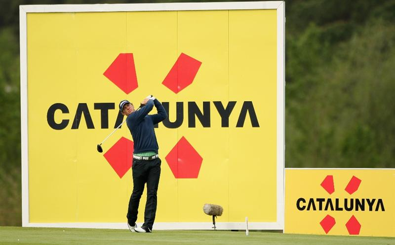 GIRONA, SPAIN - MAY 01:  Magnus A Carlsson of tees off on the 12th hole during the second round of the Open de Espana at the PGA Golf Catalunya on May 1, 2009 in Girona, Spain.  (Photo by Warren Little/Getty Images)