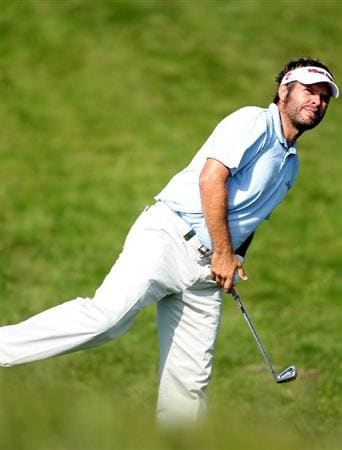 NEWPORT, WALES - JUNE 03:  Jose Manuel Lara of Spain during the first round of the Celtic Manor Wales Open on the 2010 Course at the Celtic Manor Resort on June 3, 2010 in Newport, Wales.  (Photo by Ross Kinnaird/Getty Images)