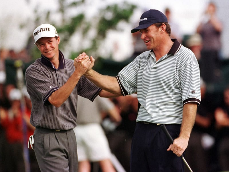 Nick Faldo and David Carter
