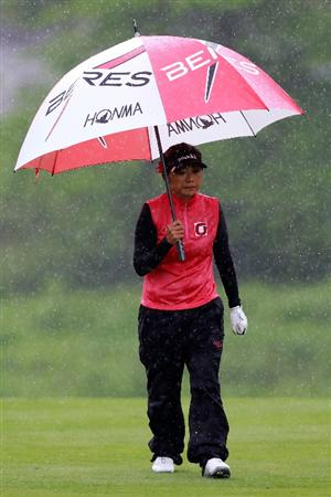 GLADSTONE, NJ - MAY 20: Me Hyun Kim of South Korea hits walks down the fairway of the second hole during round two of the Sybase Match Play Championship at Hamilton Farm Golf Club on May 20, 2011 in Gladstone, New Jersey.  (Photo by Chris Trotman/Getty Images)