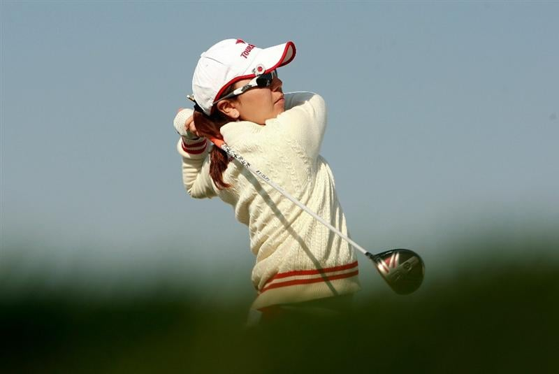 INCHEON, SOUTH KOREA - OCTOBER 29:  Mika Miyazato of Japan hits a tee shot on the 16th hole during the 2010 LPGA Hana Bank Championship at Sky 72 Golf Club on October 29, 2010 in Incheon, South Korea.  (Photo by Chung Sung-Jun/Getty Images)