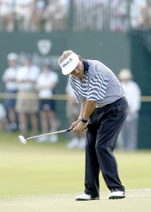 Vicente Fernandez during the first round of the Champions Tour ACE Group Classic at The Club at TwinEagles on Friday, February 17, 2006, in Naples, Florida.Photo by Grant Halverson/WireImage.com