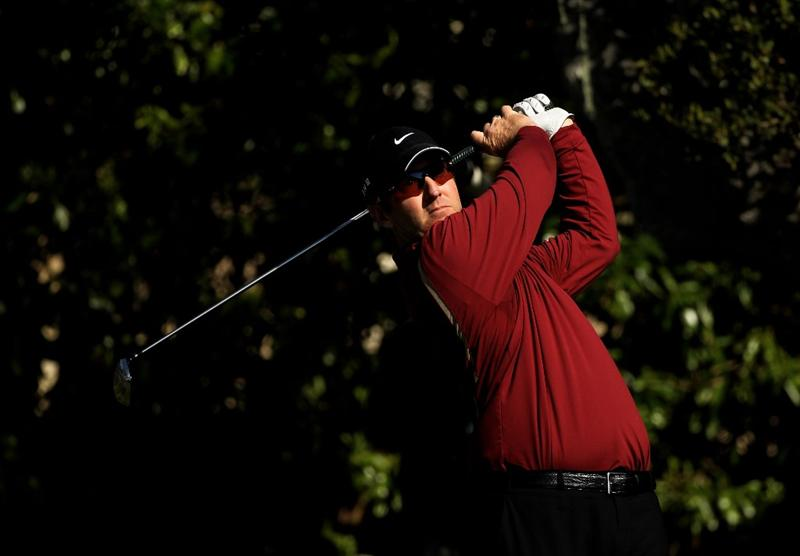 PEBBLE BEACH, CA - FEBRUARY 14:  David Duval tees off on the 16th hole during the final round of the AT&T Pebble Beach National Pro-Am at Pebble Beach Golf Links on February 14, 2010 in Pebble Beach, California.  (Photo by Ezra Shaw/Getty Images)