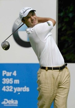 Simon Khan (GBR) during the third round of the 2005 BMW International Open at Nord-Eichenried Golf Club in Munich, Germany on August 27, 2005.Photo by Alexanderk/WireImage.com