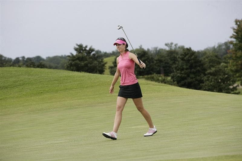 PRATTVILLE, AL - OCTOBER 4:  Sandra Gal of Germany reacts after missing a par putt on the second hole during final round play in the Navistar LPGA Classic at the Robert Trent Jones Golf Trail at Capitol Hill on October 4, 2009 in  Prattville, Alabama.  (Photo by Dave Martin/Getty Images)