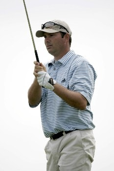 Steve Pleis  on the 15th hole during the 2nd round of the Chitimacha Open being held at Le Triomphe Golf Club in Broussard, Louisiana on March 25, 2005.