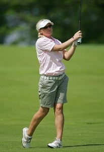 Becky Morgan during the first round of the 2006 Sybase Classic held at Wykagyl Country Club in New Rochelle, NY on Thursday, May 18, 2006.Photo by Sam Greenwood/WireImage.com
