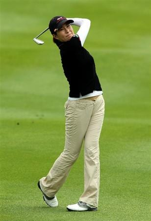 KUALA LUMPUR, MALAYSIA - OCTOBER 22: Shi Hyun Ahn of South Korea plays her 2nd shot on the 2nd hole during Round One of the Sime Darby LPGA on October 22, 2010 at the Kuala Lumpur Golf and Country Club in Kuala Lumpur, Malaysia. (Photo by Stanley Chou/Getty Images)