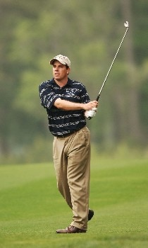 Matt Gogel hits from the fairway during the first round of the 2005 Shell Houston Open at the Redstone Golf Club in Houston, Texas April 21, 2005.Photo by Steve Grayson/WireImage.com