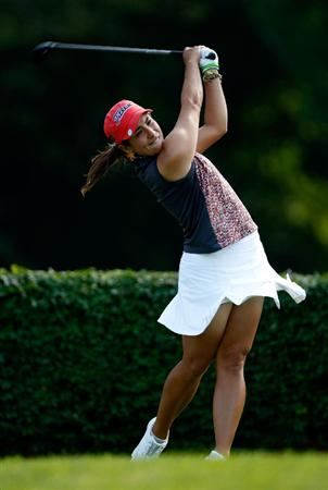 BETHLEHEM, PA - JULY 09:  Maria Jose Uribe of Colombia hits a tee shot on the 15th hole during the first round of the 2009 U.S. Women's Open at Saucon Valley Country Club on July 9, 2009 in Bethlehem, Pennsylvania.  (Photo by Streeter Lecka/Getty Images)