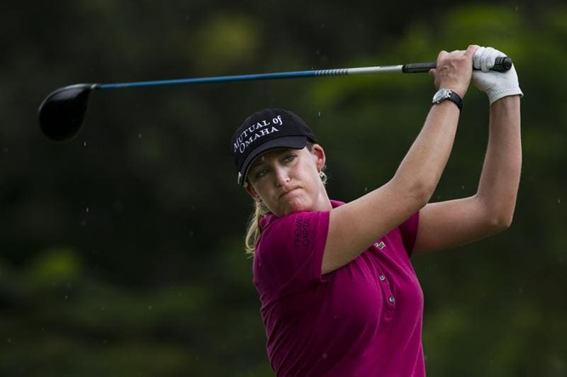 CHON BURI, THAILAND - FEBRUARY 20:  Cristie Kerr of USA tees off on the 3rd hole during round three of the Honda PTT LPGA Thailand at Siam Country Club on February 20, 2010 in Chon Buri, Thailand.  (Photo by Victor Fraile/Getty Images)