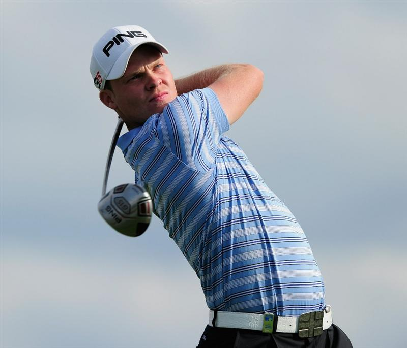 VIENNA, AUSTRIA - SEPTEMBER 18:  Danny Willett of England plays his tee shot on the 17th hole during the third round of the Austrian golf open presented by Botarin at the Diamond country club on September 18, 2010 in Atzenbrugg near Vienna, Austria.  (Photo by Stuart Franklin/Getty Images)