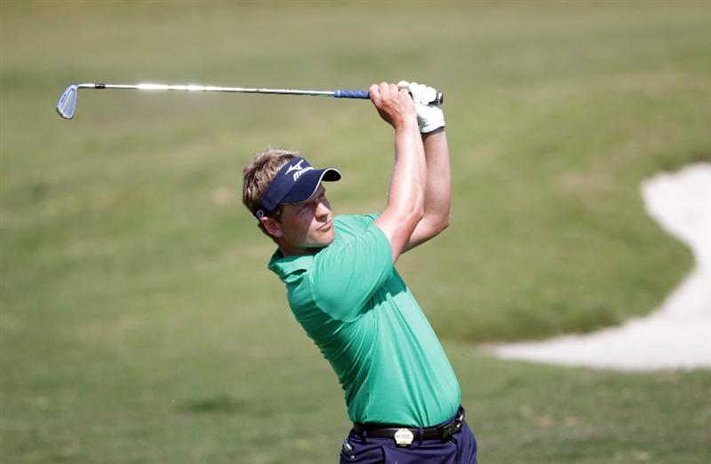 CASARES, SPAIN - MAY 21:  Luke Donald of England during his quarter final match of the Volvo World Match Play Championships at Finca Cortesin on May 20, 2011 in Casares, Spain.  (Photo by Ross Kinnaird/Getty Images)