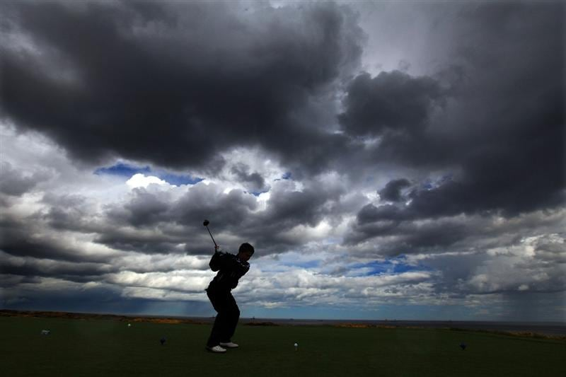 ABERDEEN, SCOTLAND - MAY 12:  Stiggy Hodgson of England during the 2011 Walker Cup Squad practice session at Royal Aberdeen Golf Club on May 12, 2011 in Aberdeen, Scotland.  (Photo by David Cannon/Getty Images)
