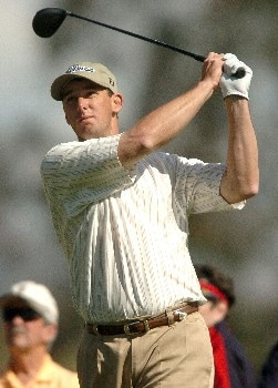 Darron Stiles in action during the third round of the PGA's Tour 2005 Chrysler Classic of Tucson at the Omni Tucson National Golf Resort & Spa February 26, 2005 in Tuscon, Arizona.