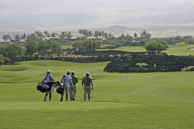 Jay Haas and Hale Irwin walk up the second fairway during the first round of the 2007 MasterCard Championship at Hualalai held at Hualalai Golf Club in Ka'upulehu-Kona, Hawaii, on January 19, 2007. Photo by: Chris Condon/PGA TOURPhoto by: Chris Condon/PGA TOUR