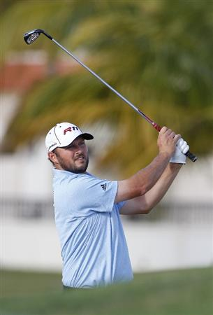 RIO GRANDE, PR - MARCH 10: Blake Adams hits a shot  during the first round of the Puerto Rico Open presented by seepuertorico.com at Trump International Golf Club on March 10, 2011 in Rio Grande, Puerto Rico.  (Photo by Michael Cohen/Getty Images)
