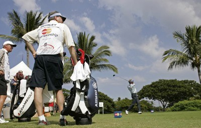 Dana Quigley on the first tee during the first round of the 2006 Mastercard Championship  at Hualalai resort,  Kona, Hawaii. January 20,2006Photo by: Chris Condon/PGA TOUR