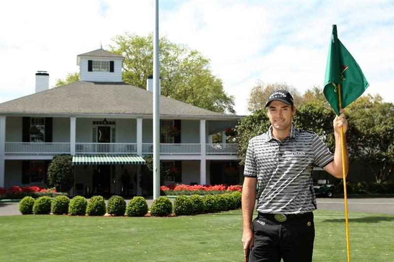 AUGUSTA, GA - APRIL 06:  Oliver Wilson of England smiles while standing in Founder's Circle during a practice round prior to the 2009 Masters Tournament at Augusta National Golf Club on April 6, 2009 in Augusta, Georgia.  (Photo by Andrew Redington/Getty Images)